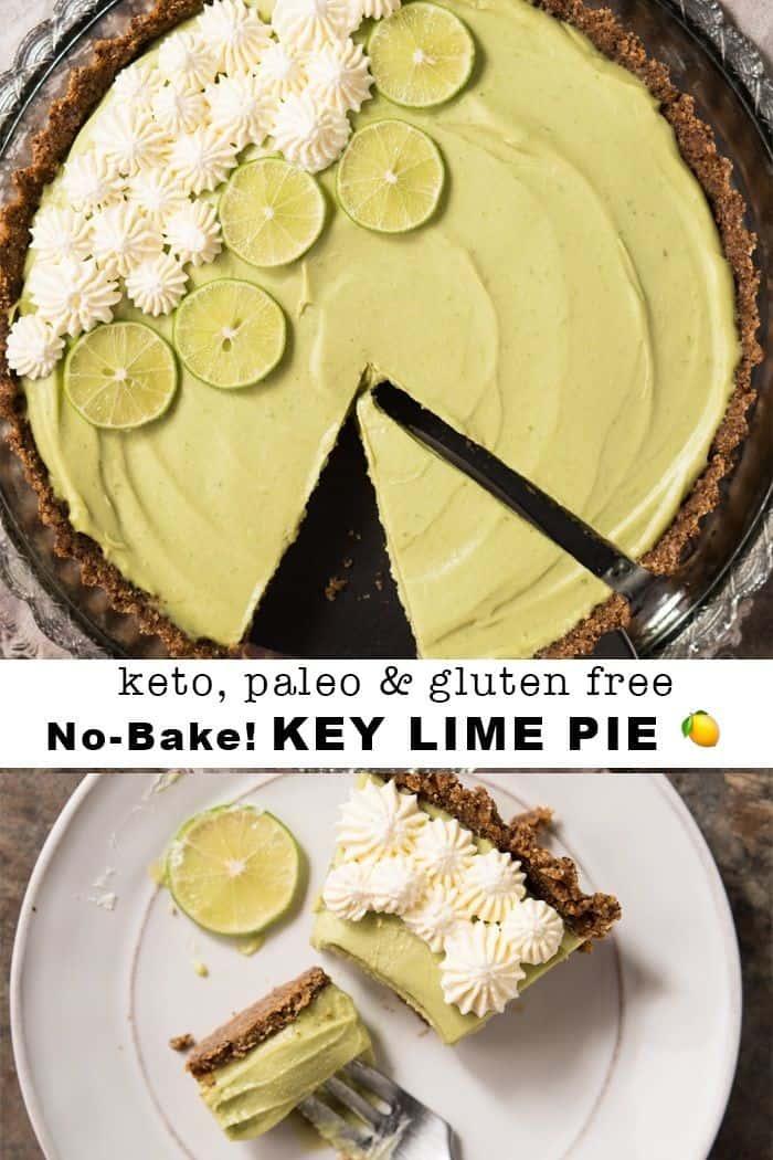 Keto, Paleo & Gluten Free Key Lime Pie