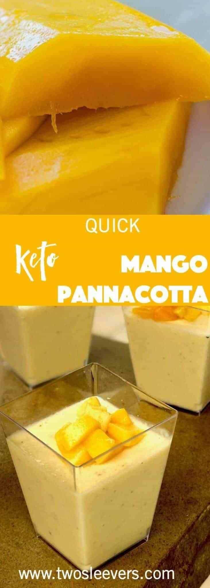 Quick Keto Mango Pannacotta