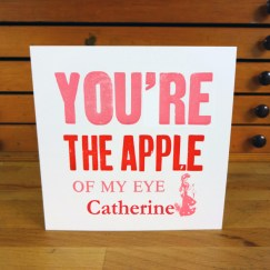 F&M SORT Card_You're the apple (pink)SML