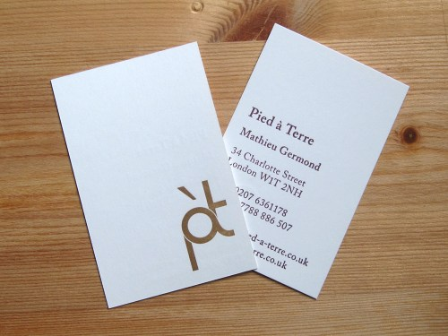 Pied a Terre - Business Cards 2b