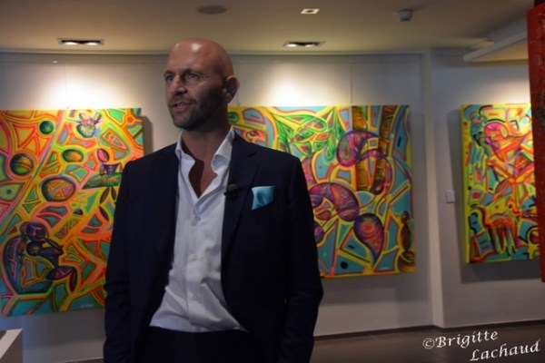 INAUGURATION DE L'EXPOSITION DE CESARE CATANIA ARTISTE MILANAIS