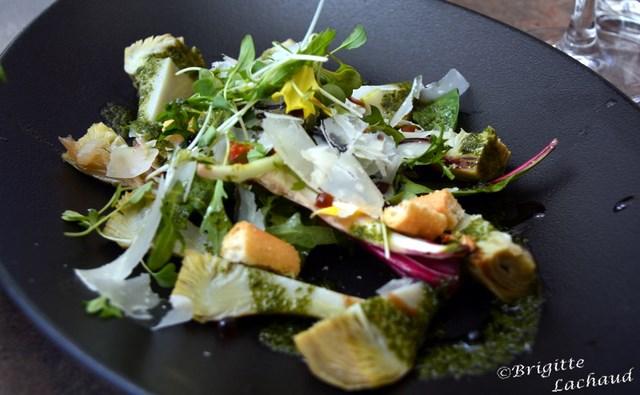 Salade d'artichauts à la barigoule