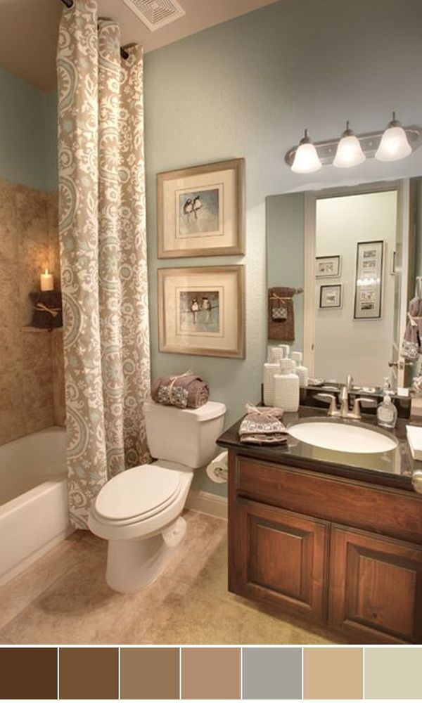 25 Beautiful Bathroom Color Scheme Ideas for Small & Master ... on zen master bathrooms, zen themed bathrooms, zen color scheme ideas, calming bedroom paint colors, zen garden, cream cabinets with taupe paint colors, zen room, zen bath, spa paint colors, zen inspiration,