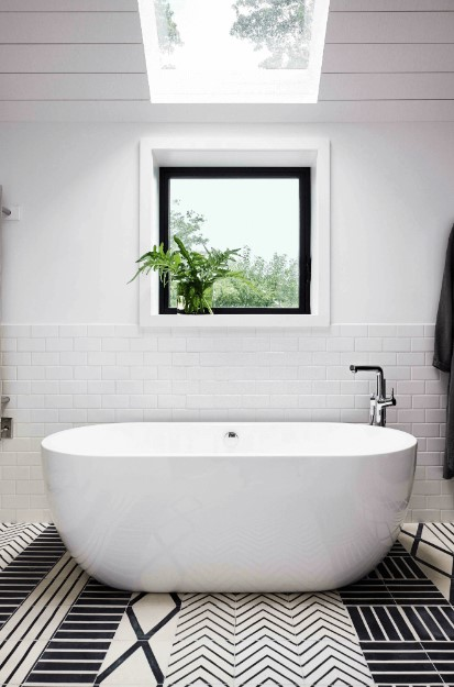install a skylight for bathroom above bathtub