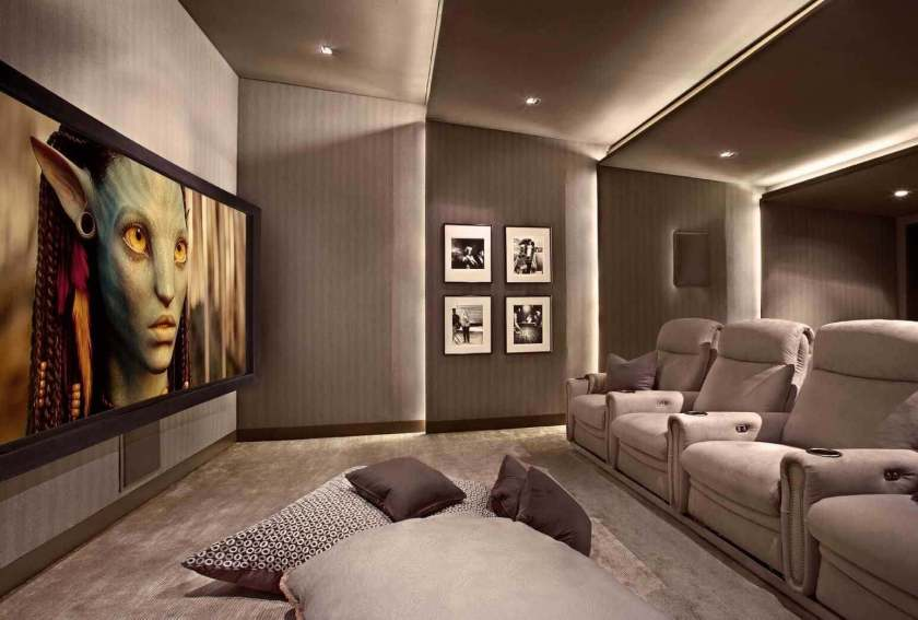 bedroom basement home theater