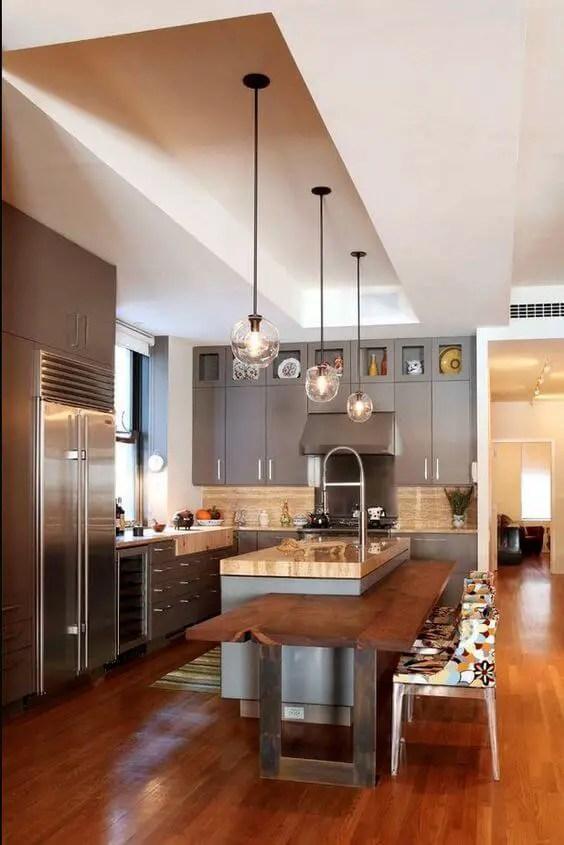 Astounding large kitchen island designs #kitchen #kitchenisland #kitchendesign #kitchenideas