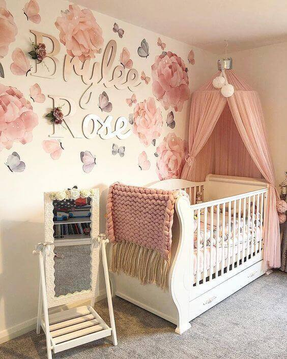 baby girl nursery ideas butterfly