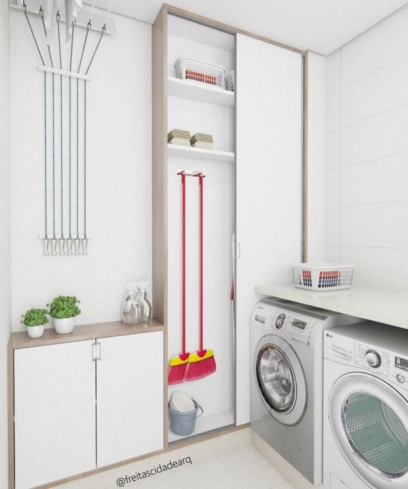 Beautiful small laundry room ideas stackable washer dryer