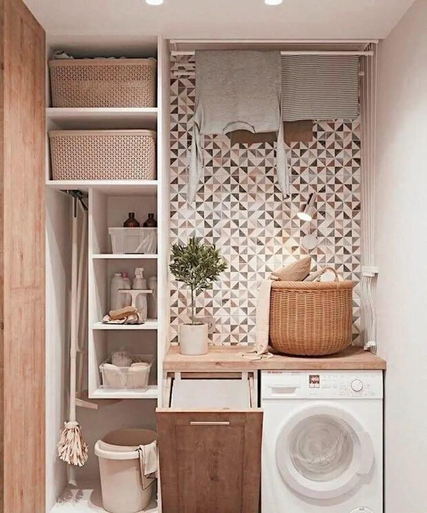Striking small laundry room door ideas