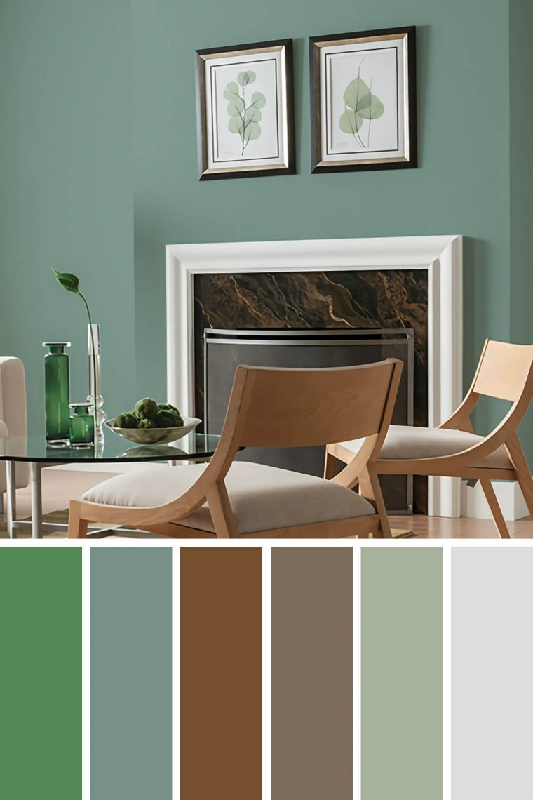 green paint living room