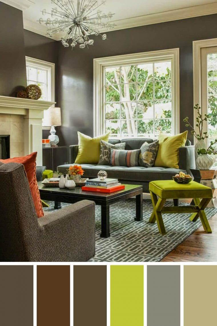 Dark Living Room Ideas: 25 Gorgeous Living Room Color Schemes To Make Your Room Cozy