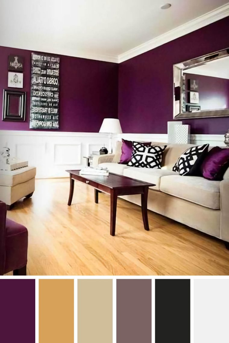 purple living room color schemes