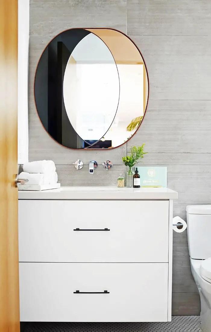 Striking bathroom mirror frame ideas pinterest #bathroom #mirror #vanity #bathroomdesign #bathroomremodel #bathroomideas