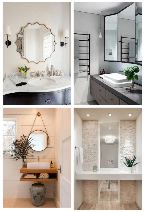 Unique and Inspiring bathroom mirror ideas to reflect your style #bathroom #mirror #vanity #bathroomdesign #bathroomremodel #bathroomideas