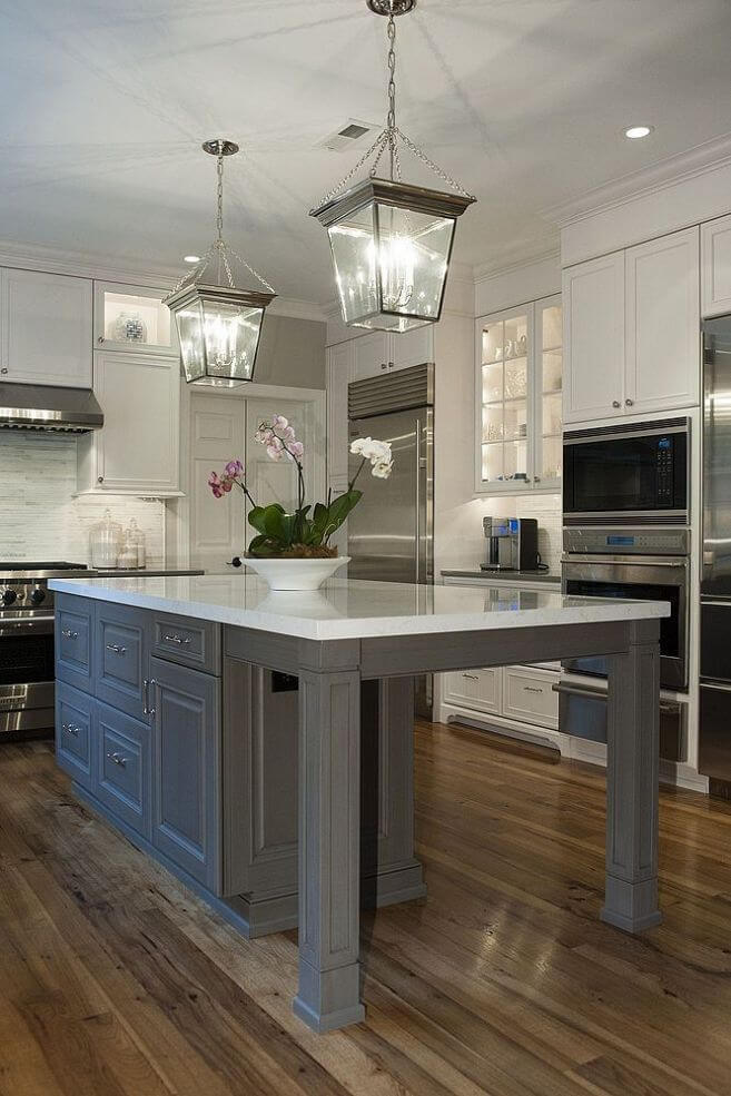 Extended Kitchen Island