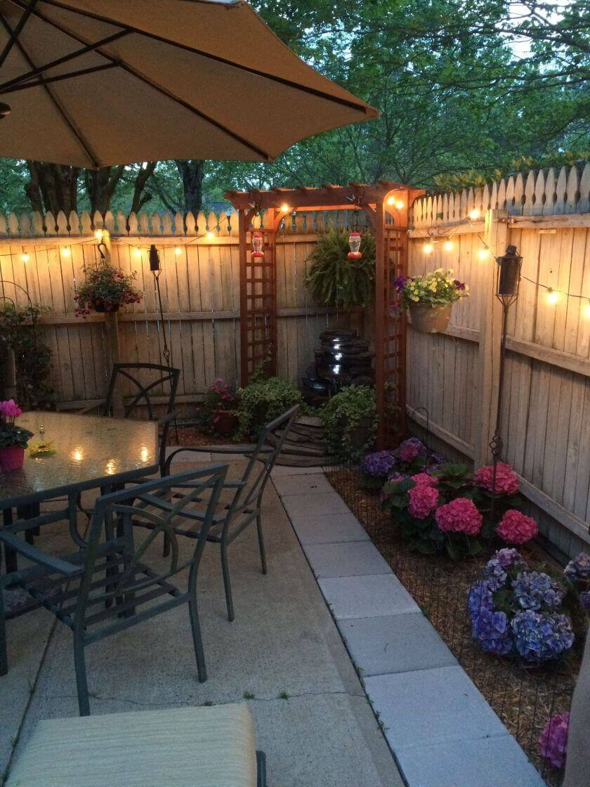 backyard patio fence
