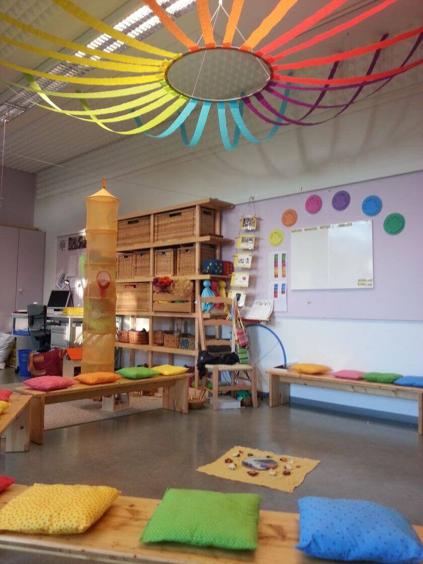 classroom decor ideas for preschool ceiling