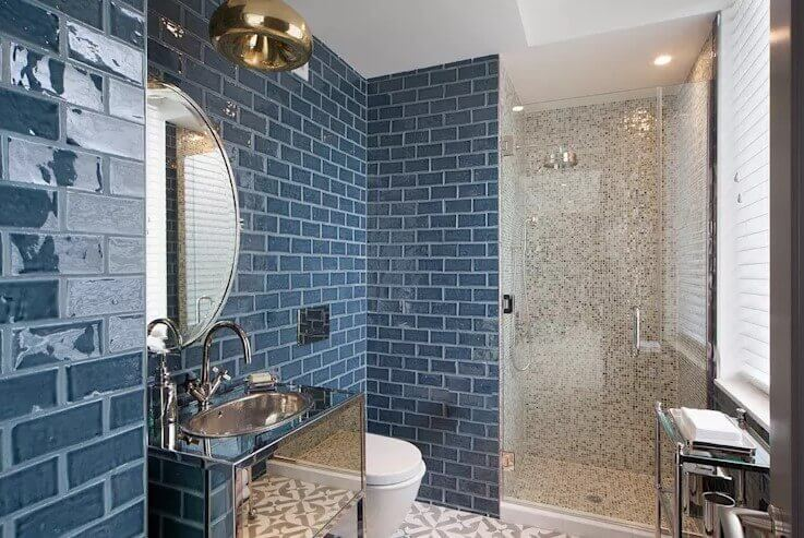 Denim Blue bathroom color schemes