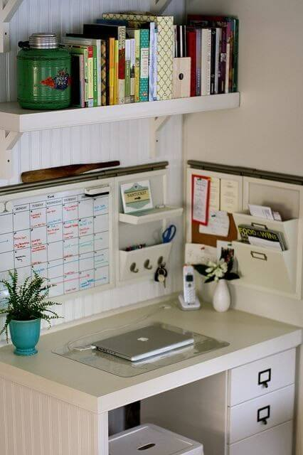 Uplifting small home office ideas in bedroom