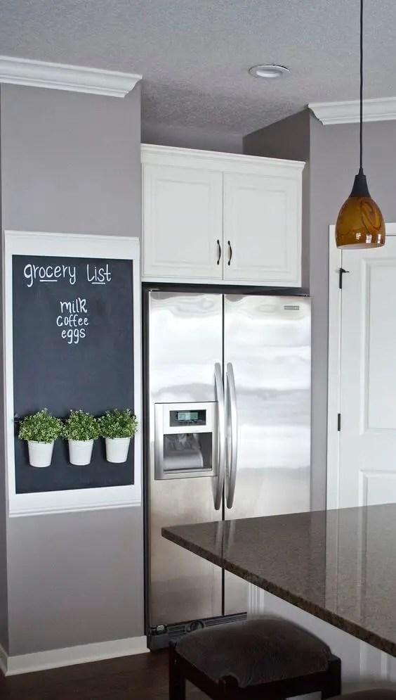 Chalkboard Refrigerator Panel DIY Idea