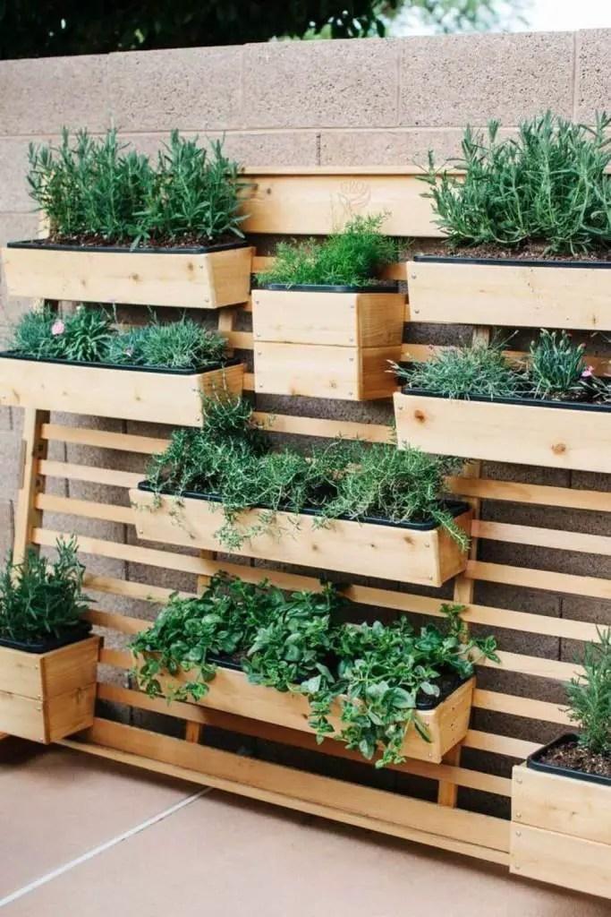 Hanging Garden with DIY Hanging Shelves - vertical backyard garden