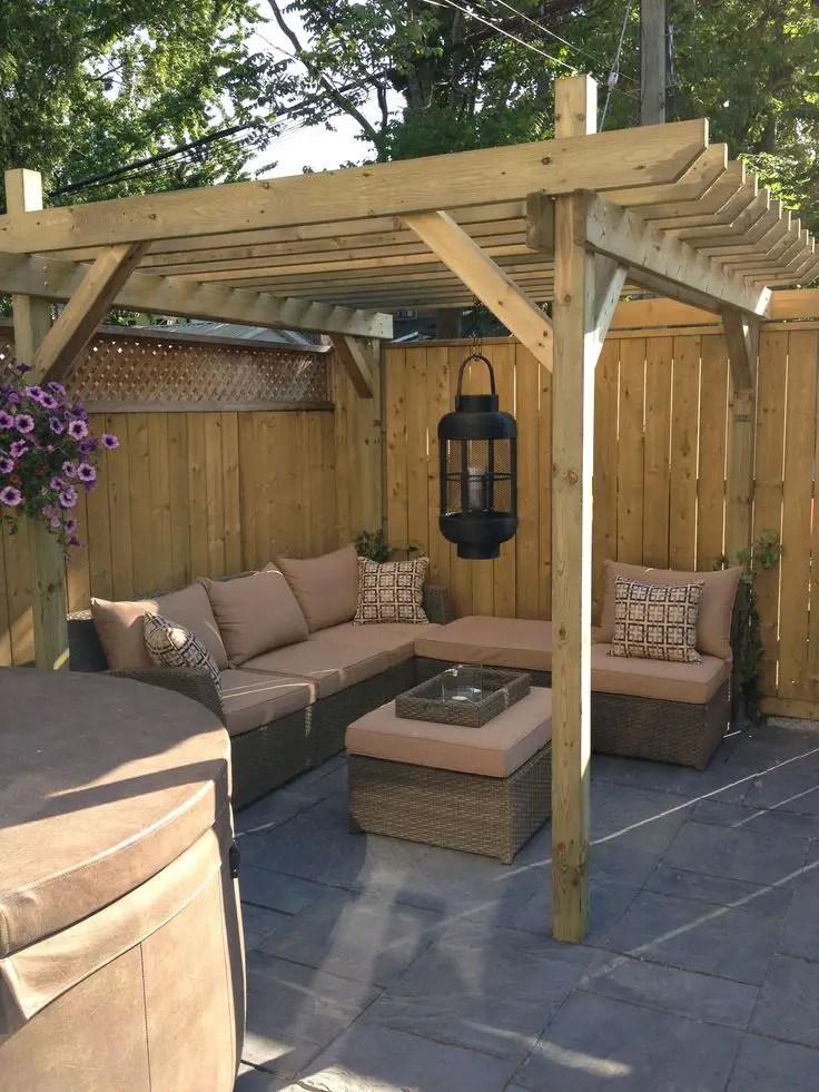 Striking backyard patio ideas with pool