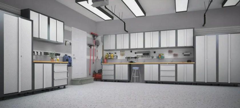 garage organization ideas lowes door costco cabinets husky storage newage windows heating and cooling quartz