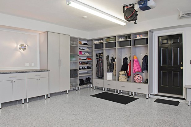 open rack garage storage