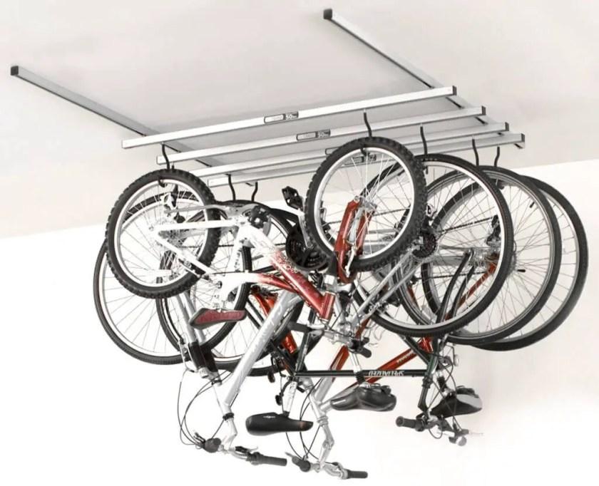 ceiling garage storage bike hangers e28094 the better garages bike