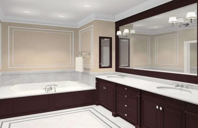 framing bathroom mirror ideas for decor diy frame framed mirrors home illuminated bath small