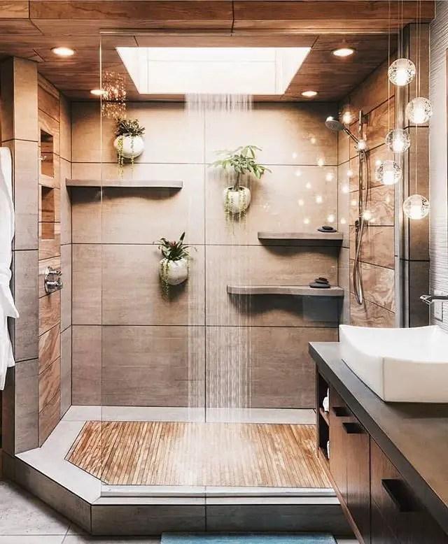 Elegant Rural Bathroom (Japanese Style)