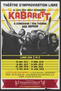El Loco Very Crazy Wunderbar KABARETT @ Théâtre des Salinières | Bordeaux | Nouvelle-Aquitaine | France
