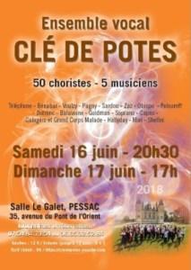 Concert 2018 du groupe vocal Clé de Potes @ salle Le Galet | Pessac | Nouvelle-Aquitaine | France