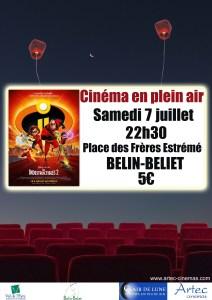 Cinéma en plein air // Les Indestructibles 2 @ Belin-Beliet   Belin-Béliet   Nouvelle-Aquitaine   France