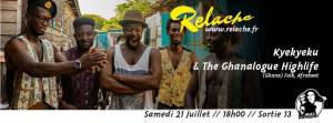 Relache #9 : Kyekyeku & Ghanalogue Highlife, DJ Francis Feelgood @ SORTIE 13 | Pessac | Nouvelle-Aquitaine | France