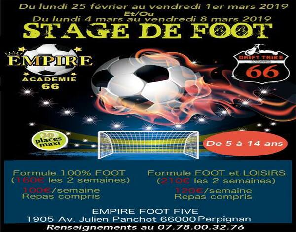 empire foot five stage vacances