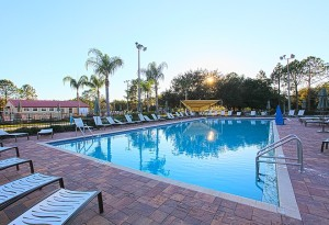 One of the swimming pools at Thousand Trails Orlando