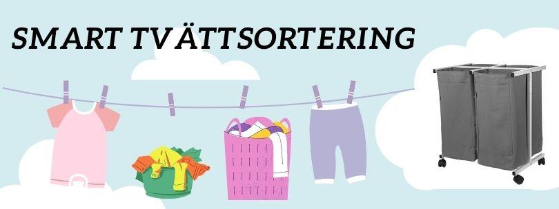 Tvättkorg och tvättsortering