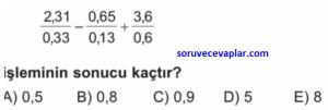 ondalık sayılar testi