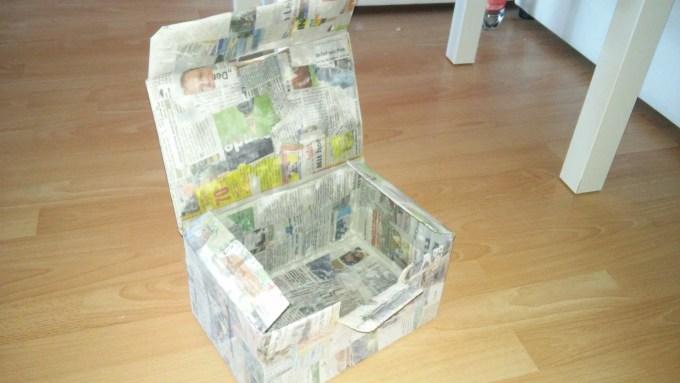Basteln mit alten Zeitungen