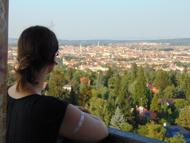 Ein genialer Blick über Sopron.