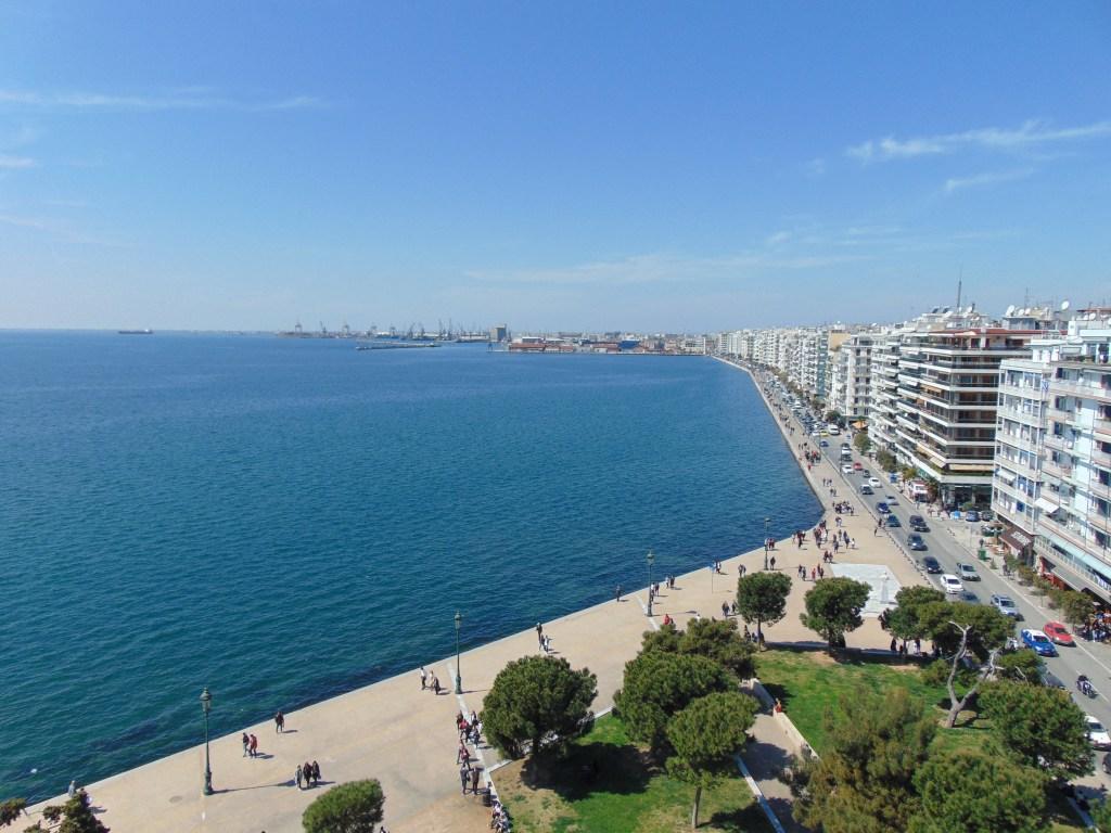 Blick auf den Hafen von Thessaloniki