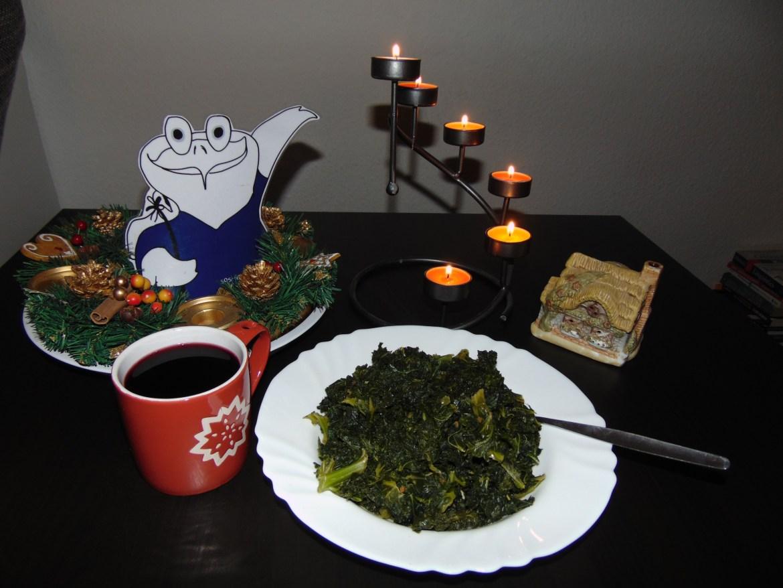 Weihnachtliches Abendessen