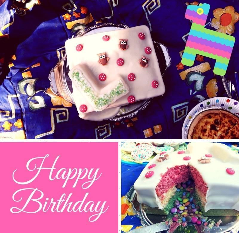 Geburtstagskuchen Regenbogen Pinata Zum Kindergeburtstag