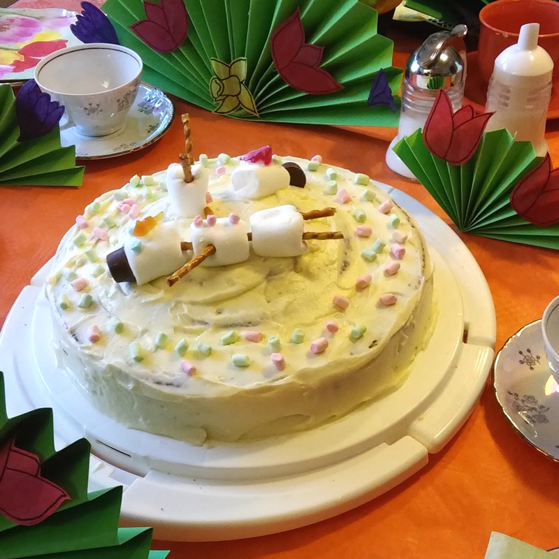 Torte mit Pudding