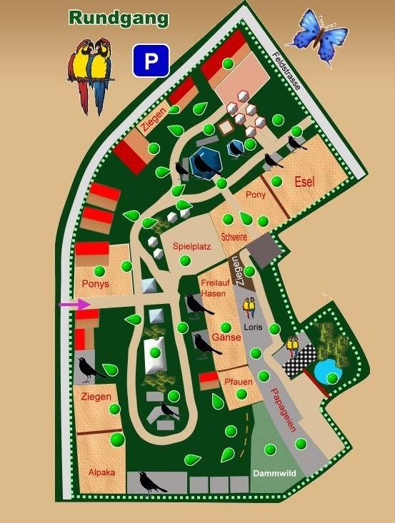 Karte Vogelpark Teltow