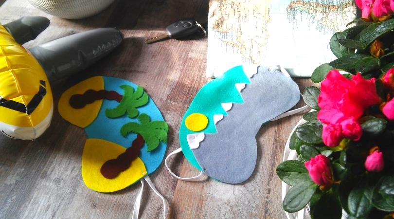 DIY Schlafmaske basteln für die Reise