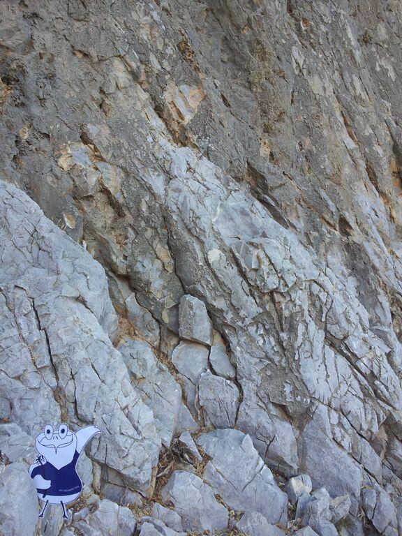 Kletterwand auf der griechischen Insel