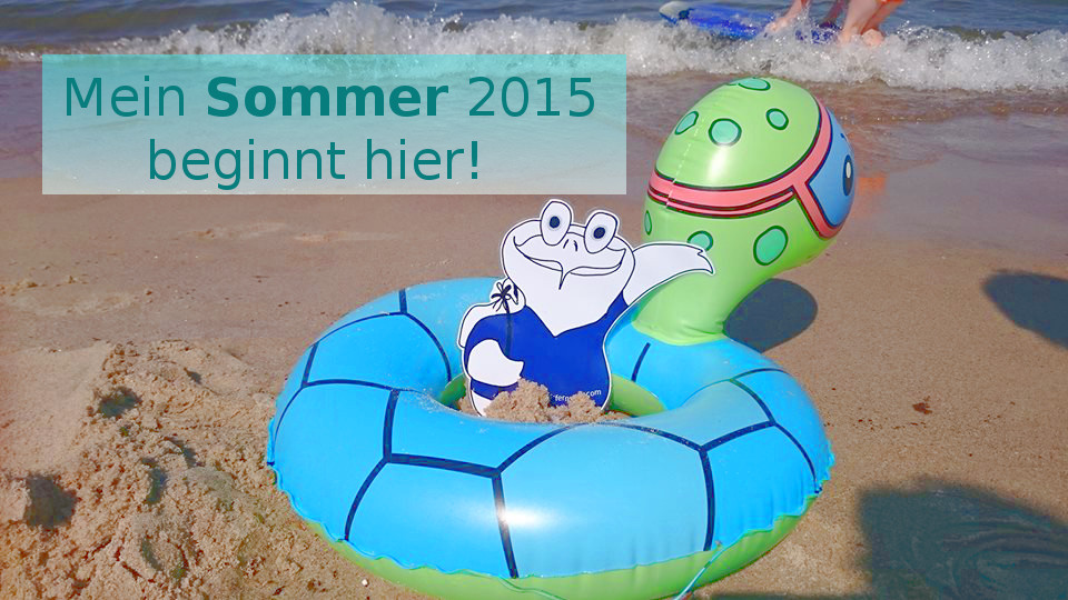 Ein Zelt im Sommer auf Usedom