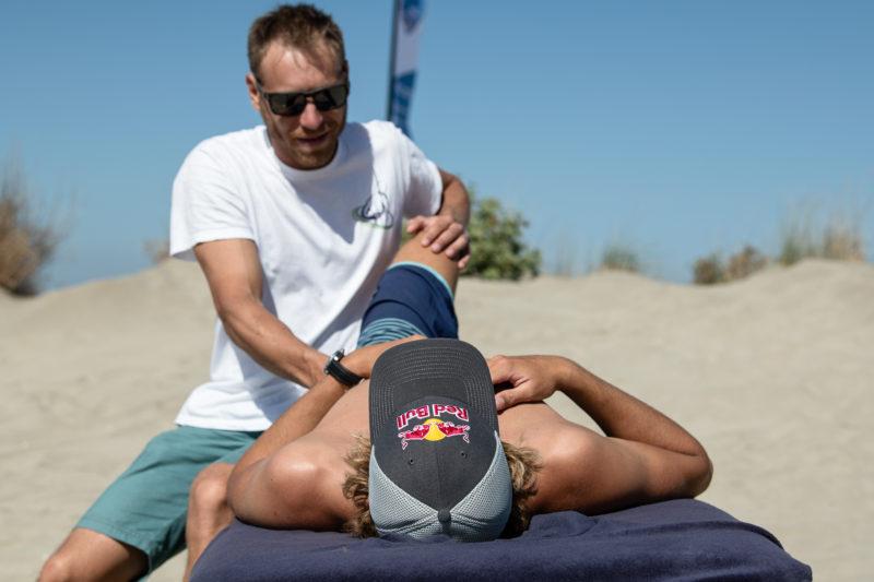 Ostéopathie au championnat de France de kitesurf freestyle